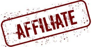 Distressed AFFILIATE grunge stamp. Illustration concept image Stock Images