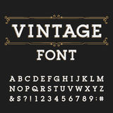 Distressed alphabet vector font. Royalty Free Stock Images