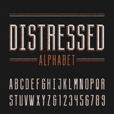 Distressed alphabet vector font. Stock Photo