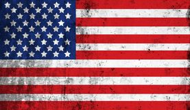 Distressed American national flag. United States Flag.. US Flag. Vector illustration of the American flag in accurate proportions with a grungy distressed look Stock Photo
