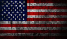 Distressed American national flag. United States Flag.. Vector illustration of the American flag in accurate proportions with a grungy distressed look. Detailed Stock Images