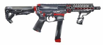 Distressed AR15/AR9 9mm SBR royalty free stock photography