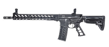 Distressed AR15 with 30rd mag stock photos