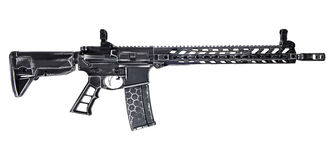Distressed AR15 with 30rd mag royalty free stock photos