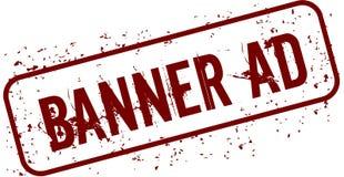 Distressed BANNER AD grunge stamp. Illustration concept image Stock Photo