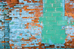 Distressed brick wall. Aging distressed brick wall Stock Photos