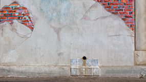 Distressed Brick Wall Background Stock Photo