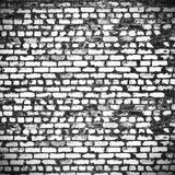 Distressed brick wall in the city Stock Image
