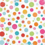 Bright Multi-sized Polka Dot Stock Image
