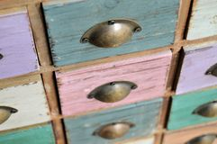 Distressed cabinet drawers Royalty Free Stock Images