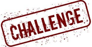 Distressed CHALLENGE grunge stamp. Illustration concept image Stock Photo