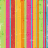 Colorful Whimsical Wide Stripe Design Stock Photos