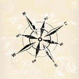 Distressed compass rose Stock Image