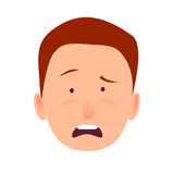 Distressed Face Emotion on Man-child Close-up Stock Image
