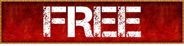Distressed font text FREE on red grunge board background. Illustration Royalty Free Stock Images