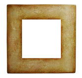 Distressed Frame. Square frame with distressed, crackle finish stock photos