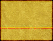Distressed Grunge Background. A distressed grunge old stained paper background with red and yellow racing stripe pattern royalty free stock images