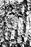 Distressed halftone grunge black and white vector texture -old wood bark texture background with cracks for creation Royalty Free Stock Images