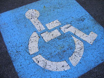 Distressed Handicapped Parking Royalty Free Stock Photography