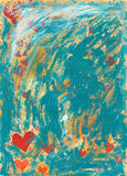 Distressed Hearts Background royalty free stock image