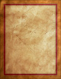 Distressed Leather Background. With red border Royalty Free Stock Image