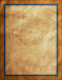 Distressed Leather Background. With blue border Stock Photo