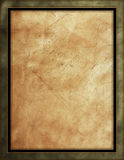 Distressed Leather Background. With green, black & gold border Stock Photography