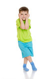 Distressed little boy Stock Image