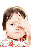 Distressed little girl stock photo