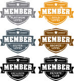 Distressed Membership Crests Royalty Free Stock Photo