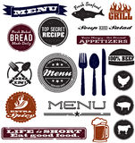 Distressed Menu Design Graphics Stock Photo
