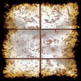 Distressed metal grunge texture. Distressed edge stone bisque tile grunge textural Stock Images