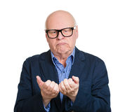 Distressed old man Stock Images