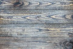 Distressed old wooden texture backdrop. Distressed wooden texture background / backdrop. Image shot from top in overhead view stock image