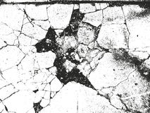 Distressed overlay texture of cracked concrete Stock Photos