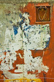 Distressed Paintwork. Scraped paintwork on an old industrial metal container Royalty Free Stock Photos