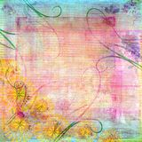 Distressed pastel background Royalty Free Stock Images