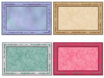 Distressed Pastel Frame Set Stock Photography