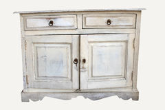 Distressed piece of old furniture Royalty Free Stock Photo