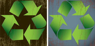 Distressed Recycle Signs Stock Photos