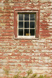 Distressed red barn side and window in Acadia National Park, Maine Royalty Free Stock Photos