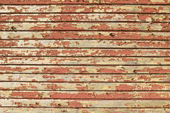 Distressed red barnwood siding in Acadia National Park, Maine Royalty Free Stock Photo