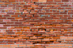 Distressed Red Brick Wall Stock Photography