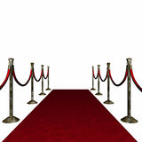 Distressed Red Carpet. 