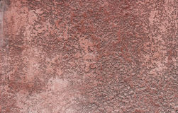 Distressed Red Plaster Wall With Cracked Surface Frame Grunge Background. Distressed Red Plaster Wall With Cracked Surface Frame Grunge Background Royalty Free Stock Image
