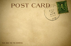 A distressed retro postcard from 1900s Royalty Free Stock Photography