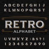 Distressed retro vector typeface. Royalty Free Stock Images