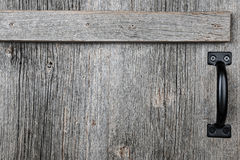 Old barn wood door stock image