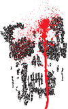 Distressed Scribble Skull Stock Photography