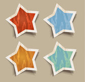 Distressed Stars stickers Stock Photography